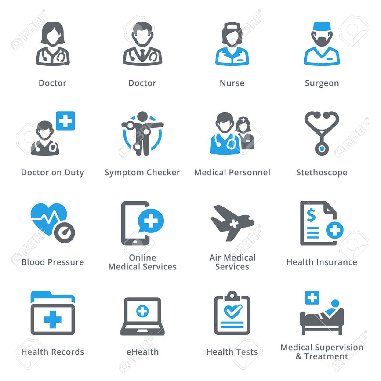 Medical & Health Care Icons Set 2 - Services | Sympa Series - 54784401