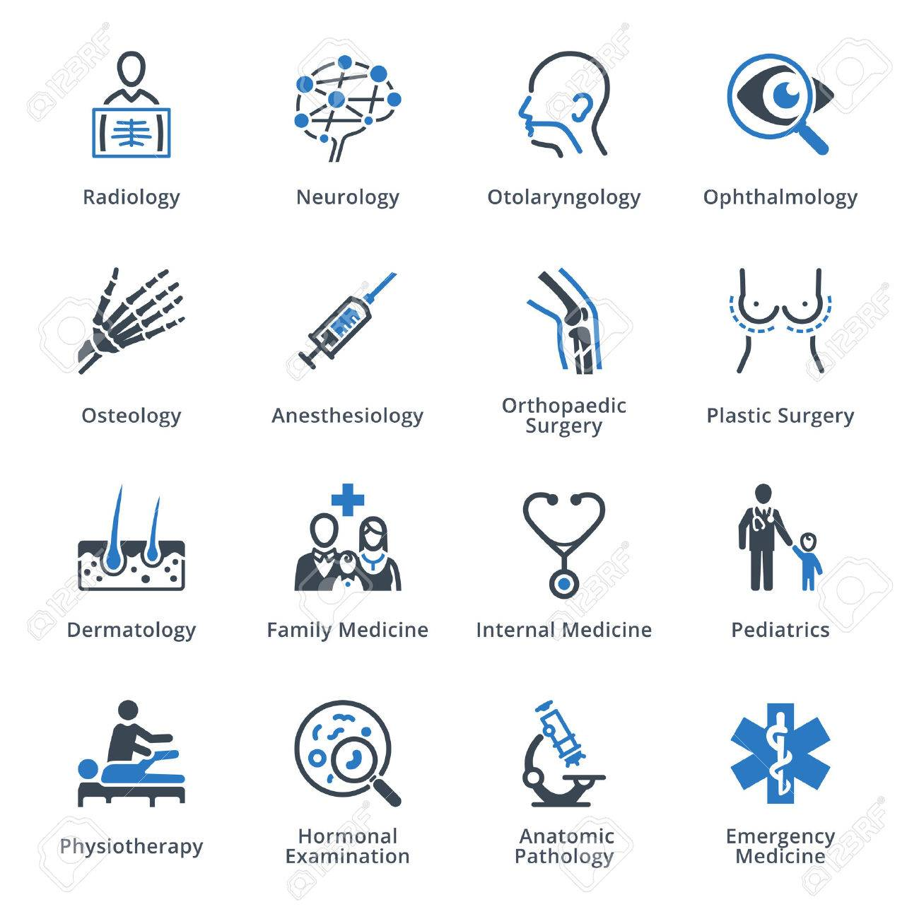 Medical Specialties Icons Set 3 - Blue Series - 59198797