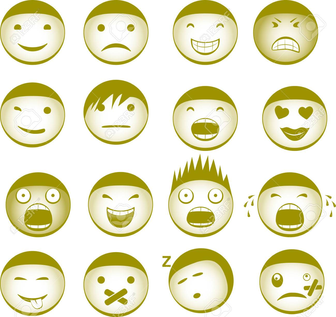 Collection of vector Smiley with different expressions Stock Vector - 6396762