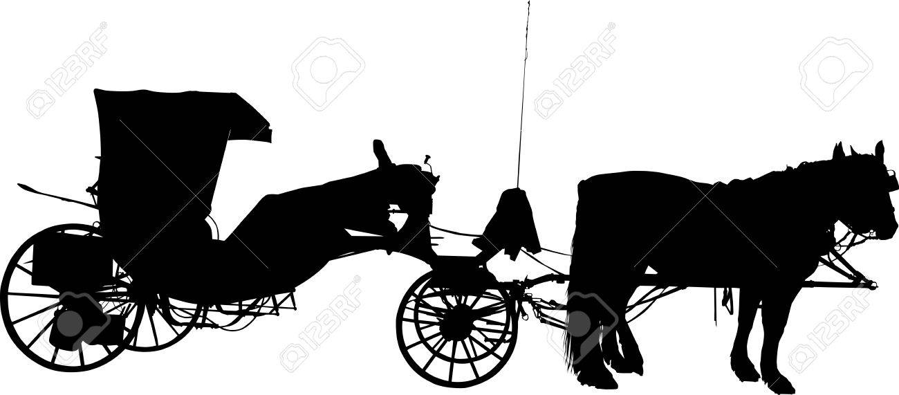 Horse Carriage Silhouette Silhouette of Old Horse Coach