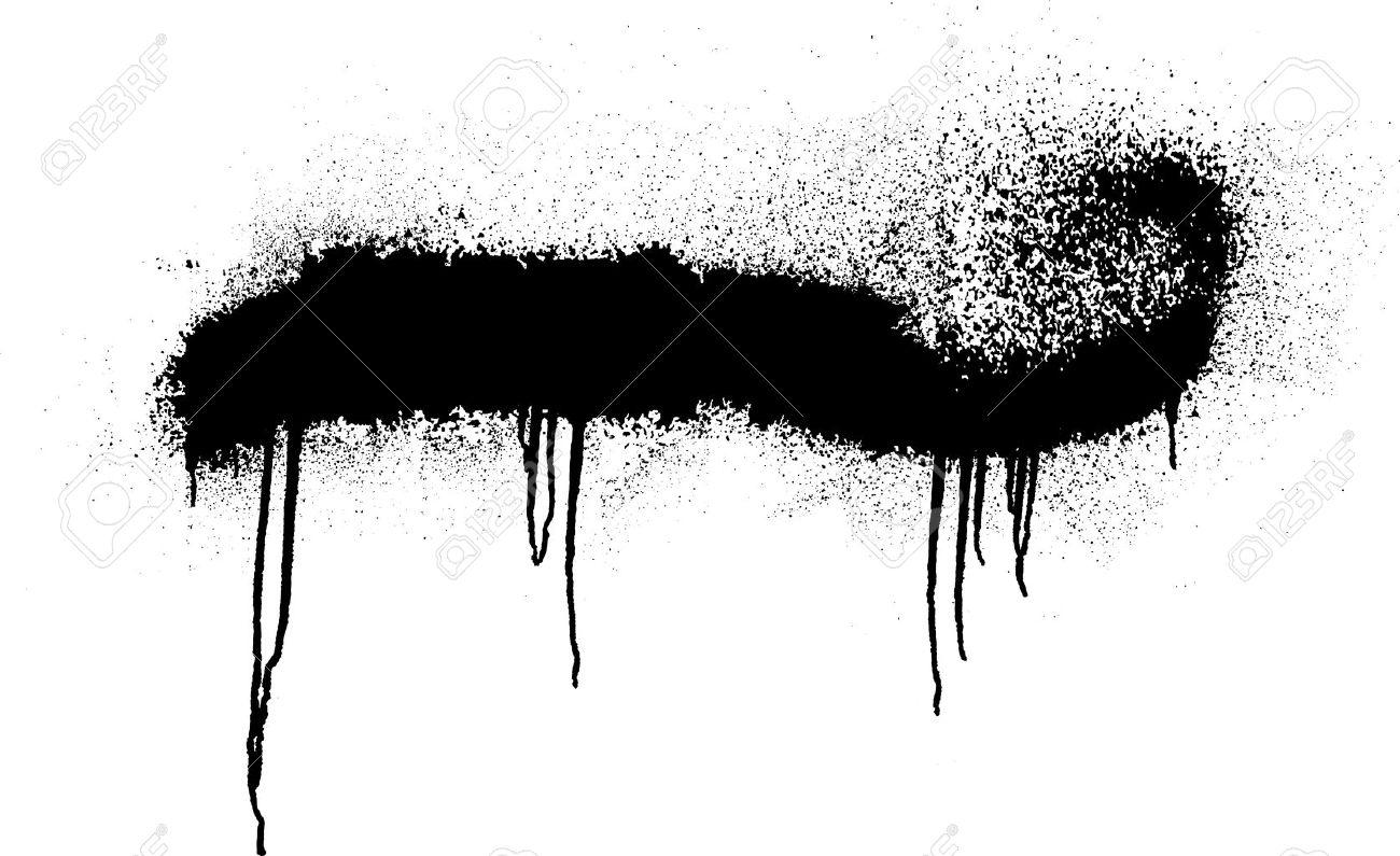 Schwarzen Graffiti-Sprühfarbe Rahmen Für Ihren Text Lizenzfrei ...