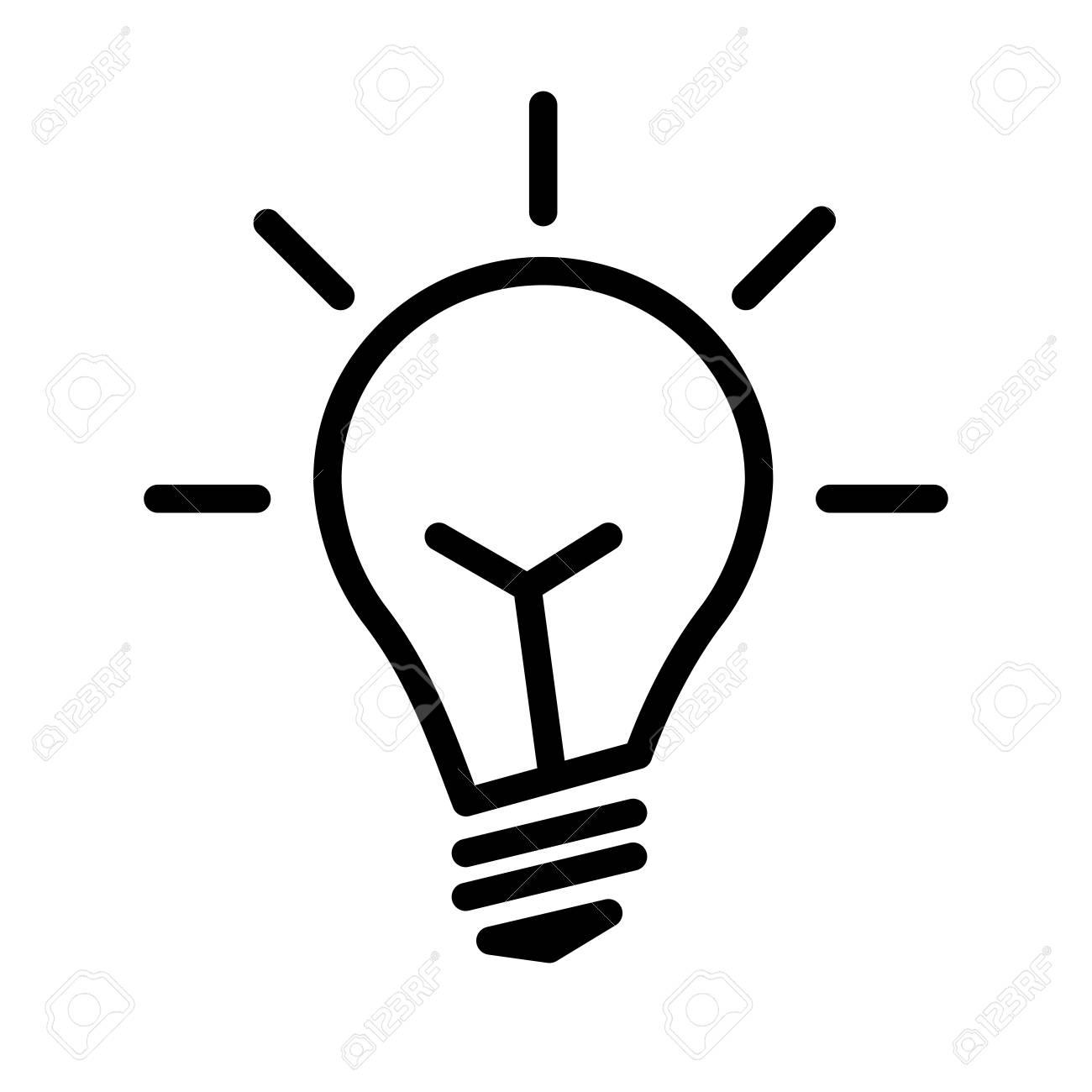 Electric light bulb lamp symbol of bright idea linear vector electric light bulb lamp symbol of bright idea linear vector illustration with editable line publicscrutiny Images