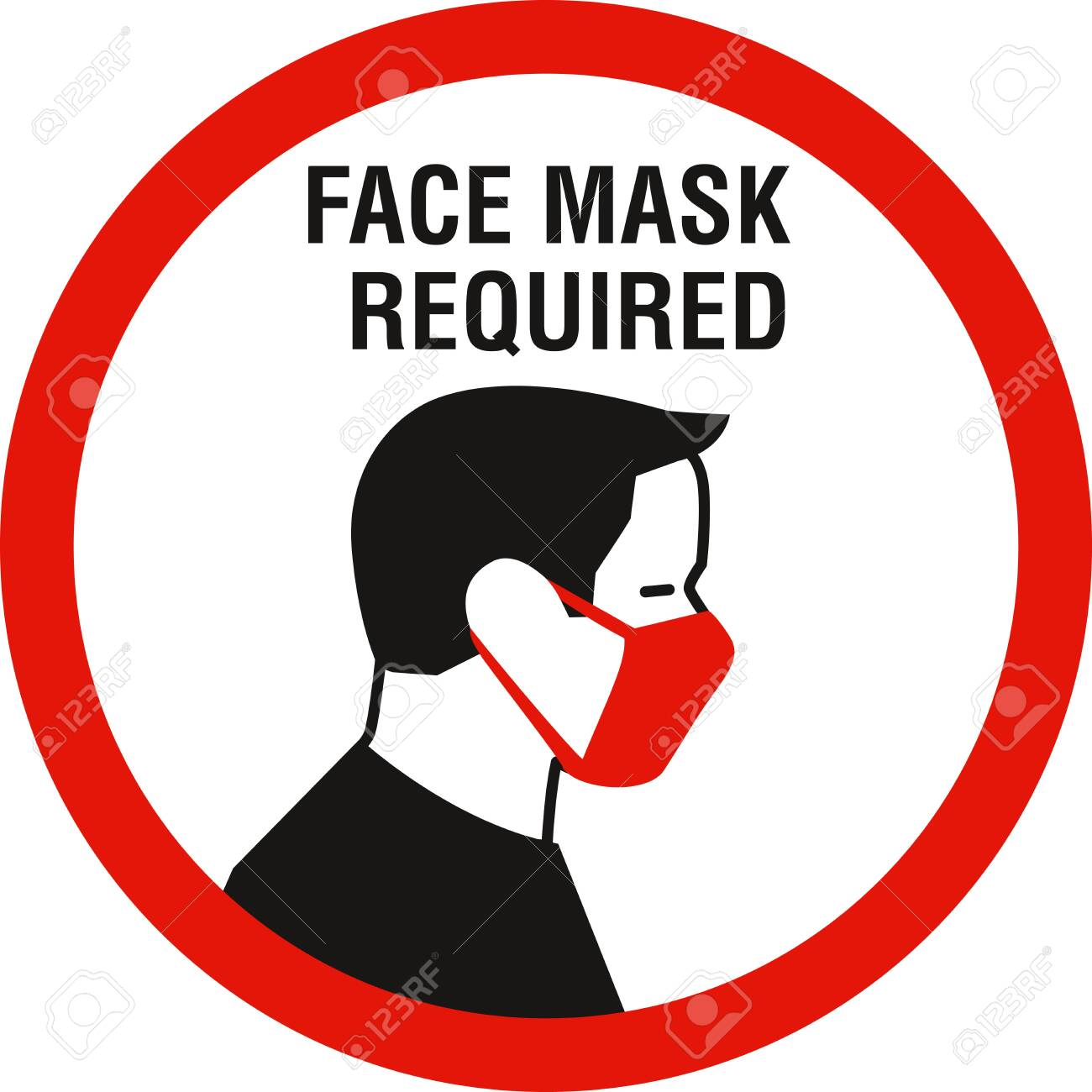 Face mask required sign. Protective measures against coronavirus disease COVID-19 - 149239017