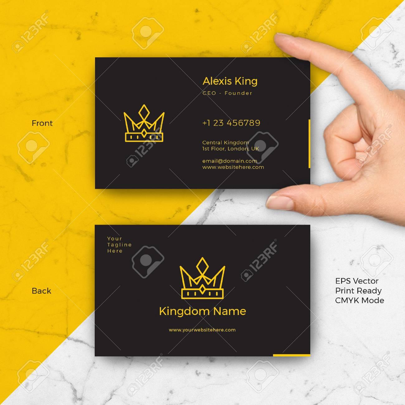 Modle De Vecteur Carte Visite Logo Roi