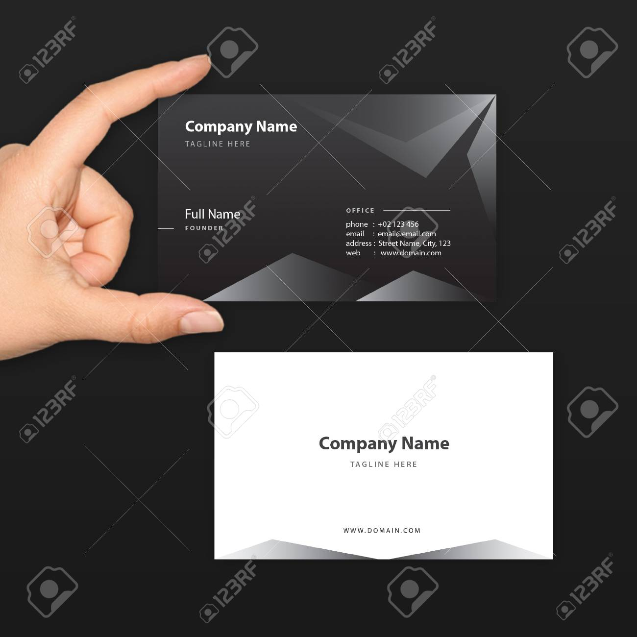 Black business card vector template fit for high end and exclusive black business card vector template fit for high end and exclusive company startup and reheart Choice Image