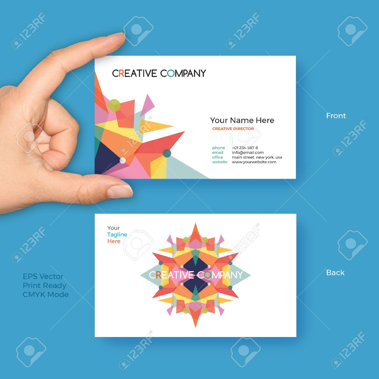 Creative Business Card Vector Template For Creative Startup ...