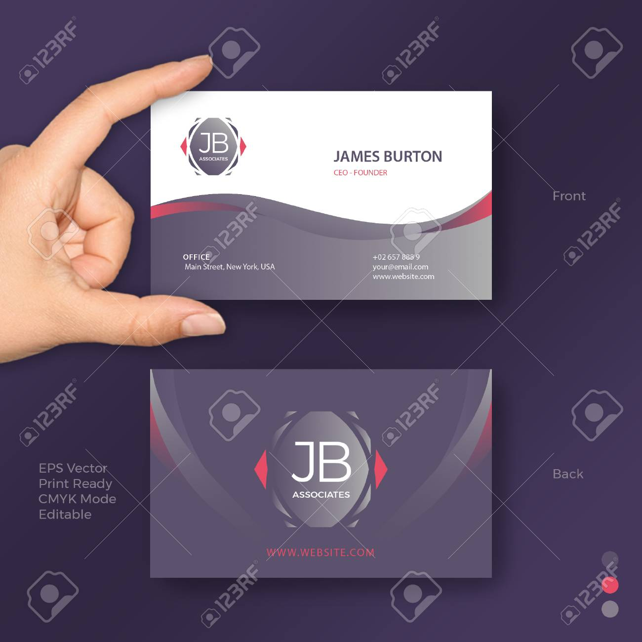 Nice Platinum Business Card Vector Template Royalty Free Cliparts ...