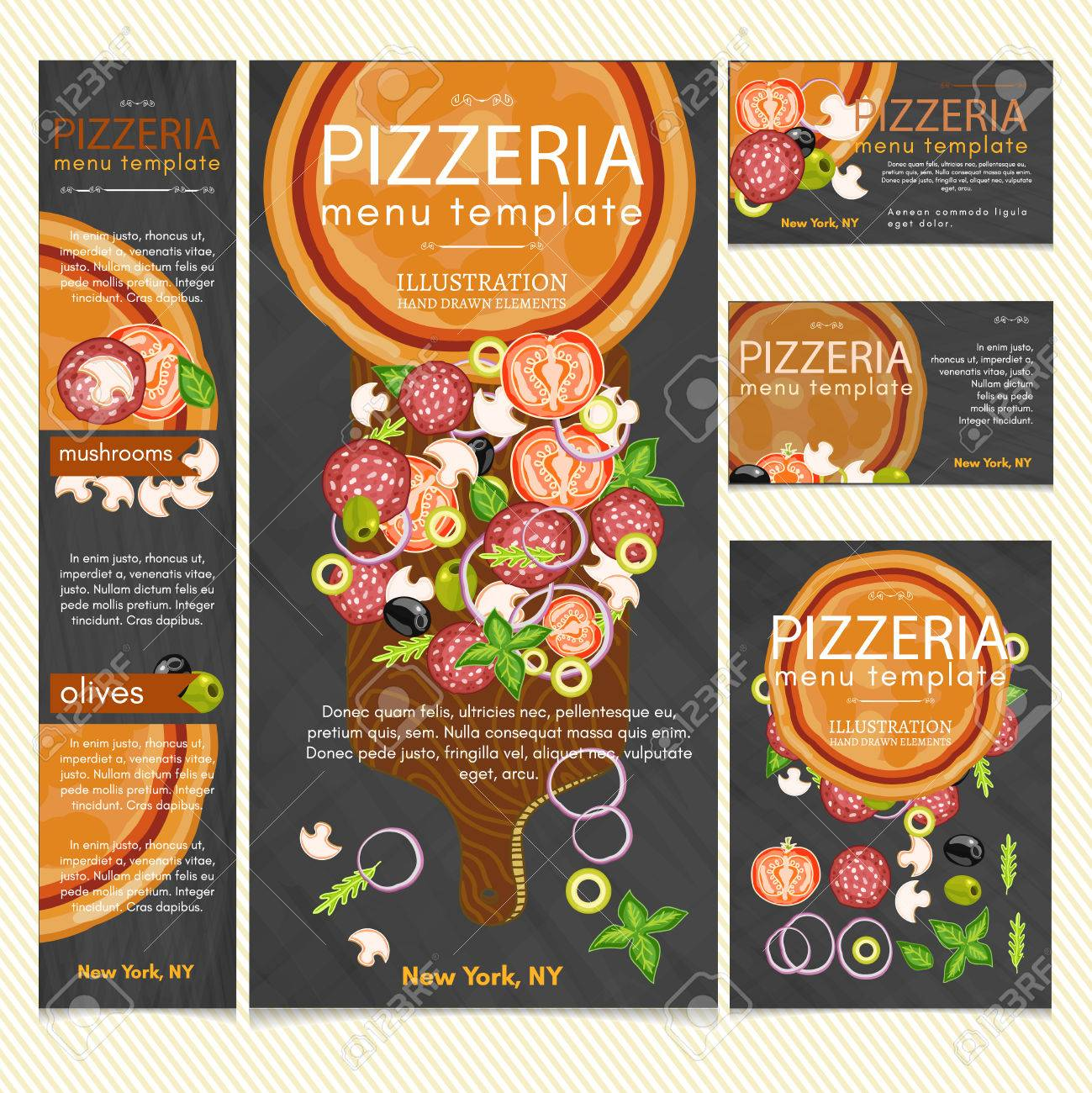 pizza restaurant menu template vector royalty free cliparts vectors