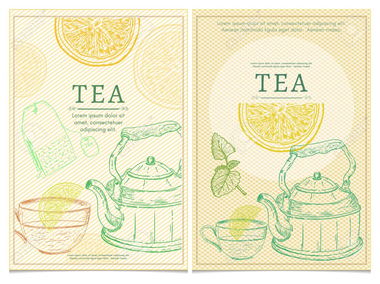 tea party template tea vector royalty free cliparts vectors and