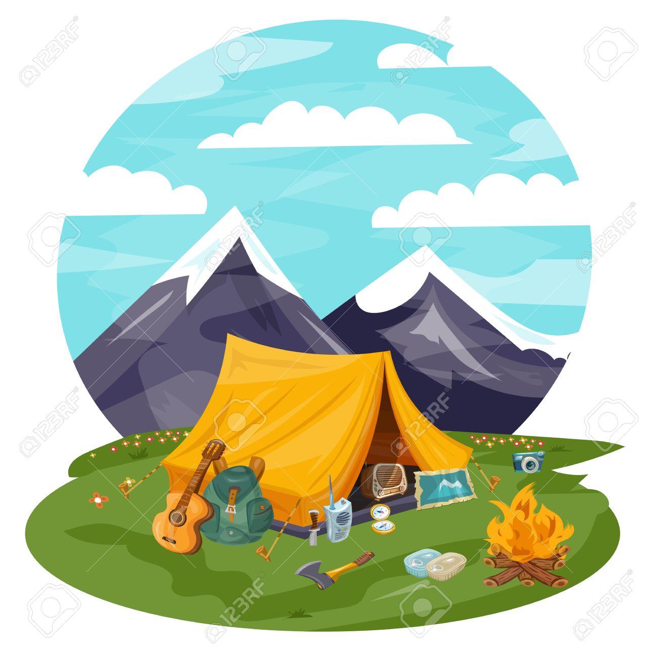 Camping Cartoon Images Free