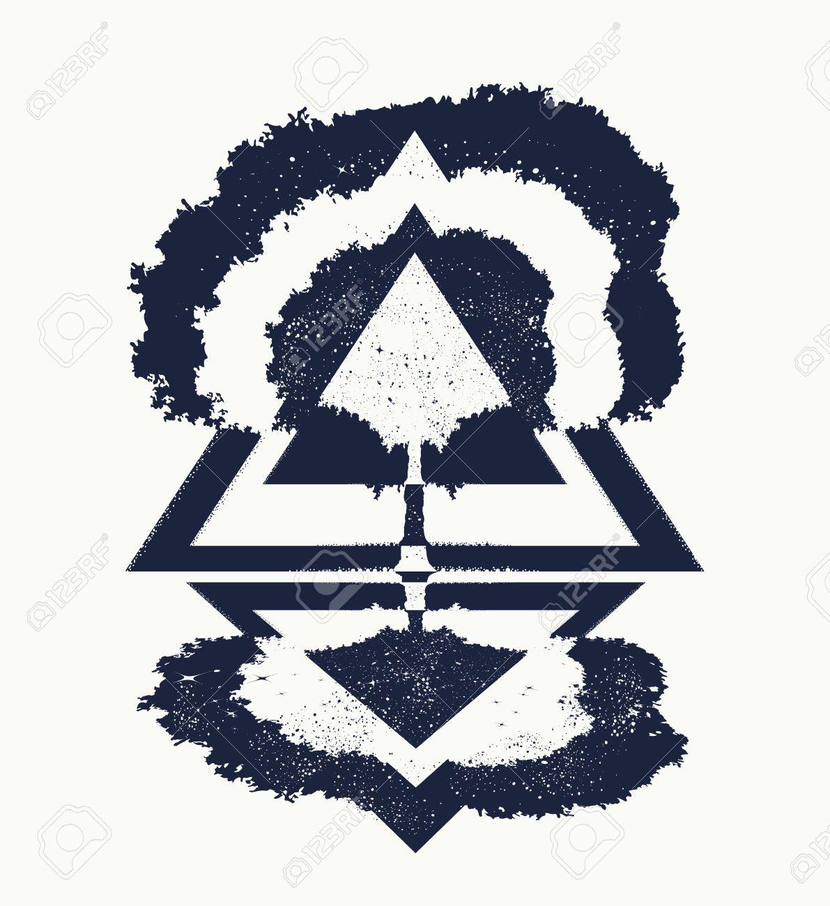 Rbol De La Vida Arte Del Tatuaje Simbolo De La Vida Y La Muerte - Simbolo-tatuaje