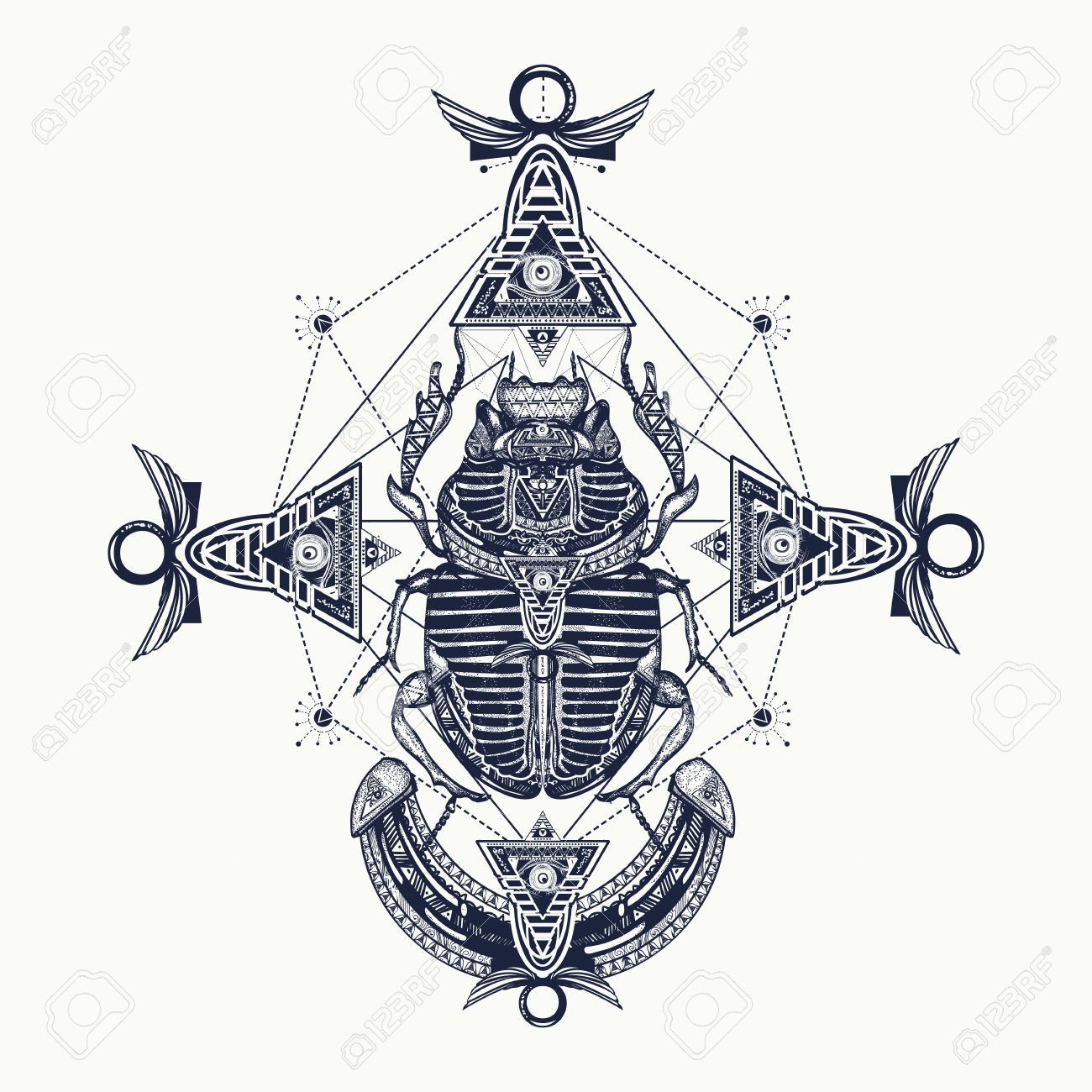 Scarab Tattoo Ancient Egypt Mythology Egyptian Scarab Symbol
