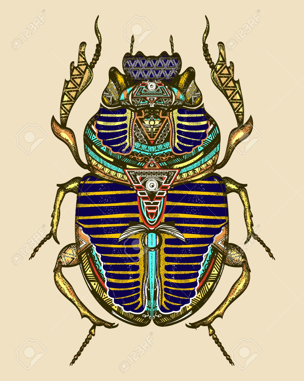 Gold scarab color tattoo ancient egypt art spiritual symbol gold scarab color tattoo ancient egypt art spiritual symbol of pharaoh god ra buycottarizona Image collections