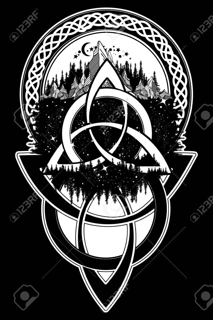 Celtic knot tattoo mountain forest symbol travel symmetry mountain forest symbol travel symmetry tourism t biocorpaavc Images