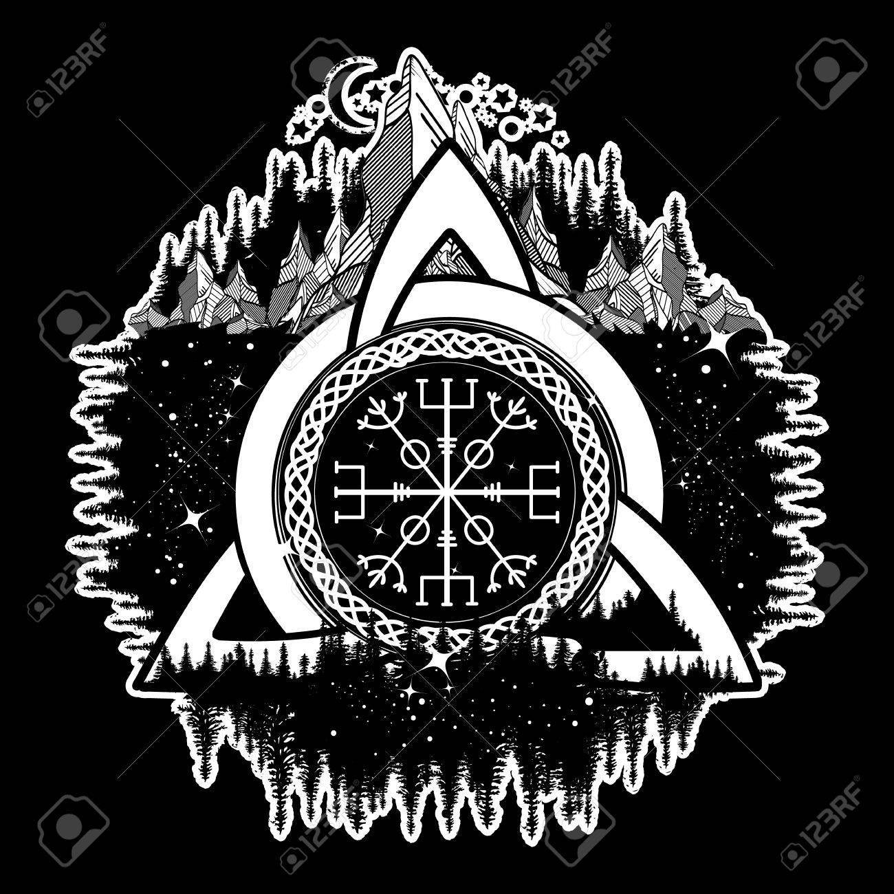 Viking nordic tattoo designs images for tatouage viking nordic tattoo designs with celtic trinity knot helm of awe aegishjalmur tattoo biocorpaavc Gallery