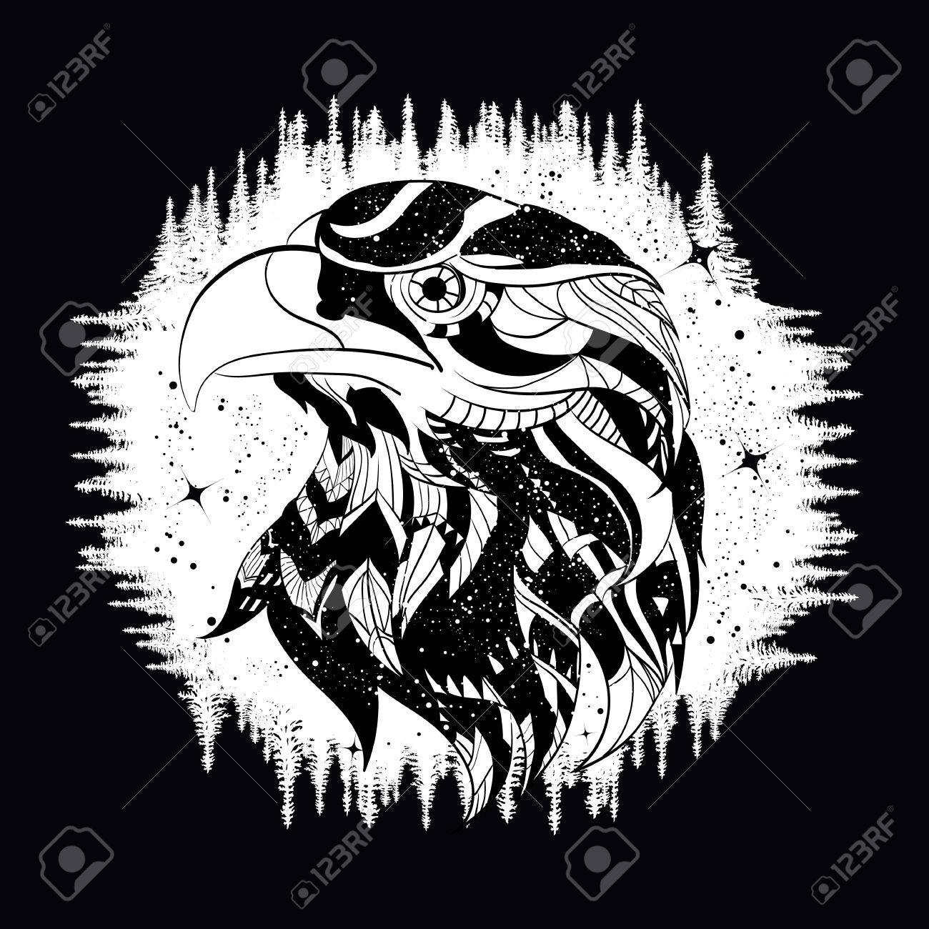 Travelers symbol images for tatouage travelers symbol for eagle tattoo art falcon in night forest symbol travel and biocorpaavc Images