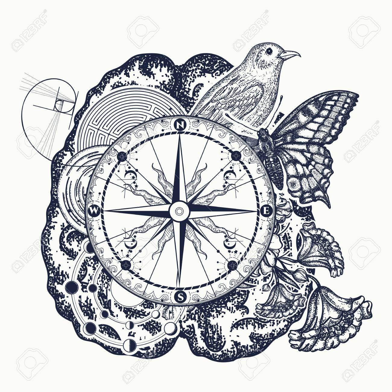 Left and right brain tattoo art symbol of thinking imagination left and right brain tattoo art symbol of thinking imagination science study biocorpaavc