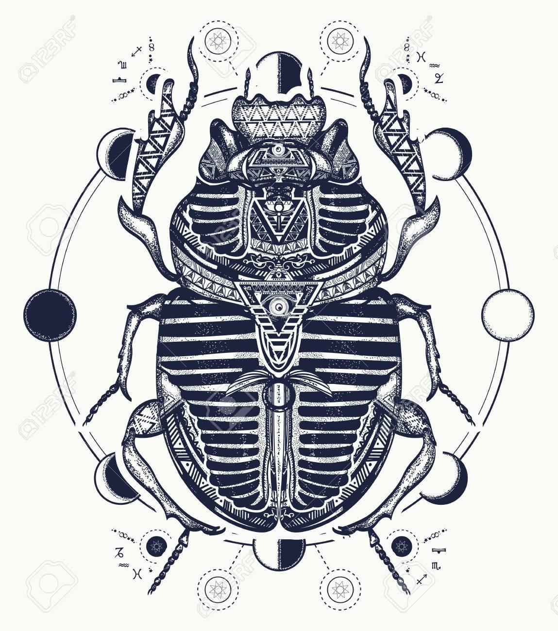 Symbole Du Scarabee Egyptien Du Pharaon Les Dieux Ra Le Soleil