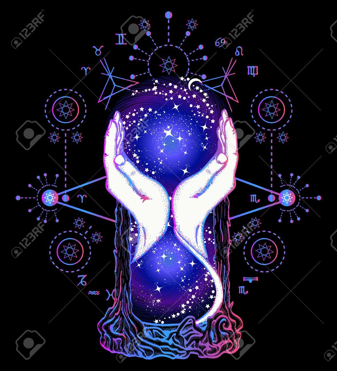 Tatouage De Sabliers Espace Magique Notion De Temps Symbole
