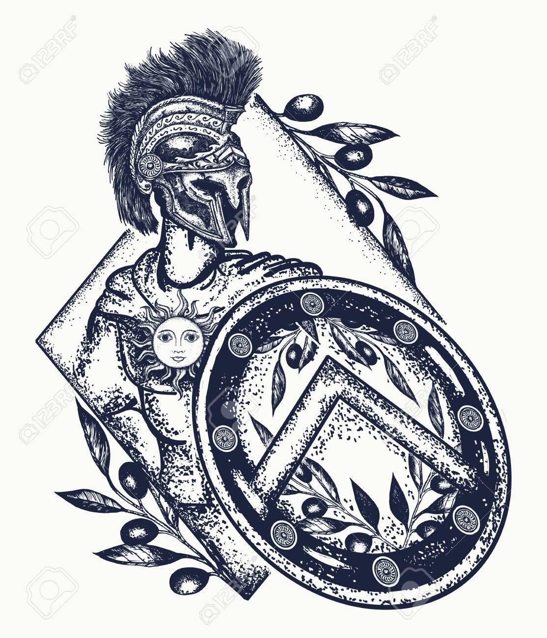 Spartan warrior tattoo art legionary of ancient rome and ancient legionary of ancient rome and ancient greece tattoo symbol of biocorpaavc