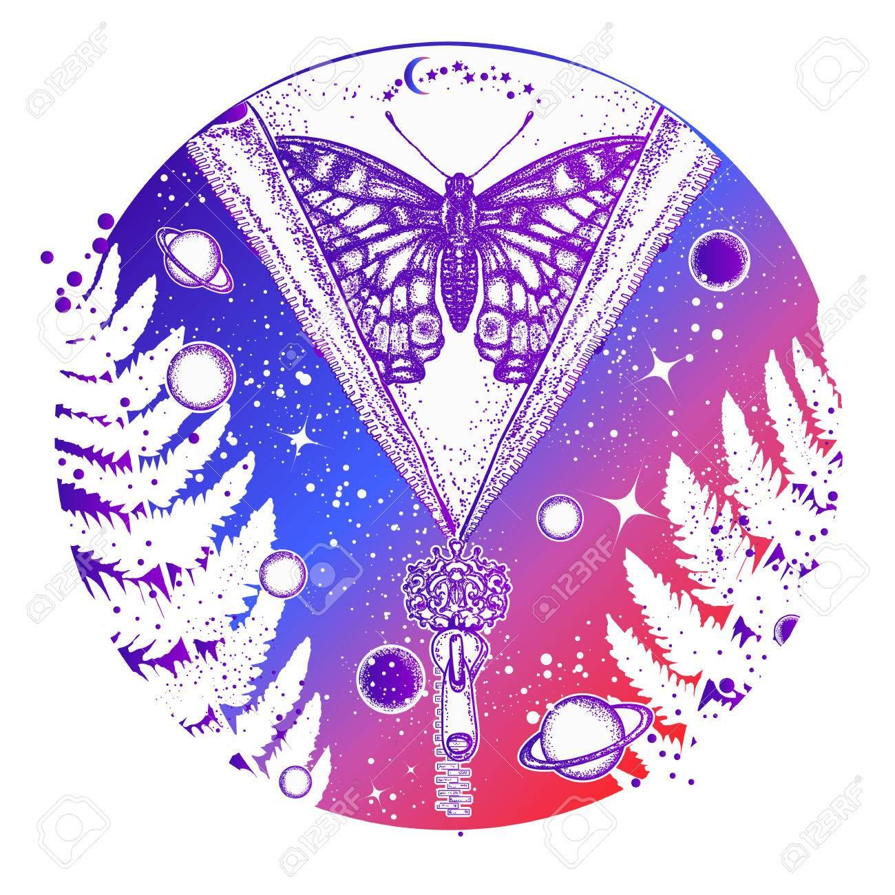 L Art De La Tatouage Universel Et Papillon Symbole De L Esoterisme