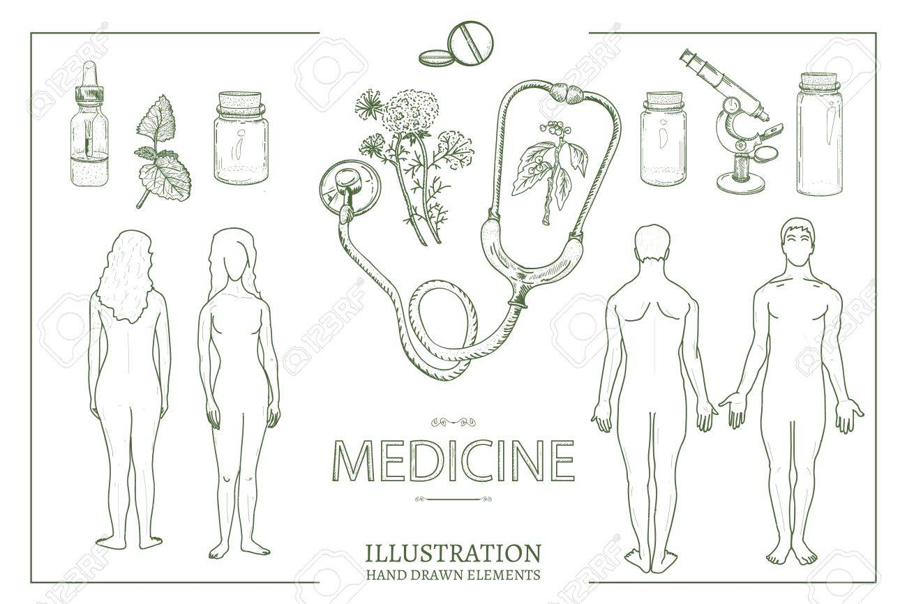 Medical Collection. Medical Set Man And Woman Male And Female ...