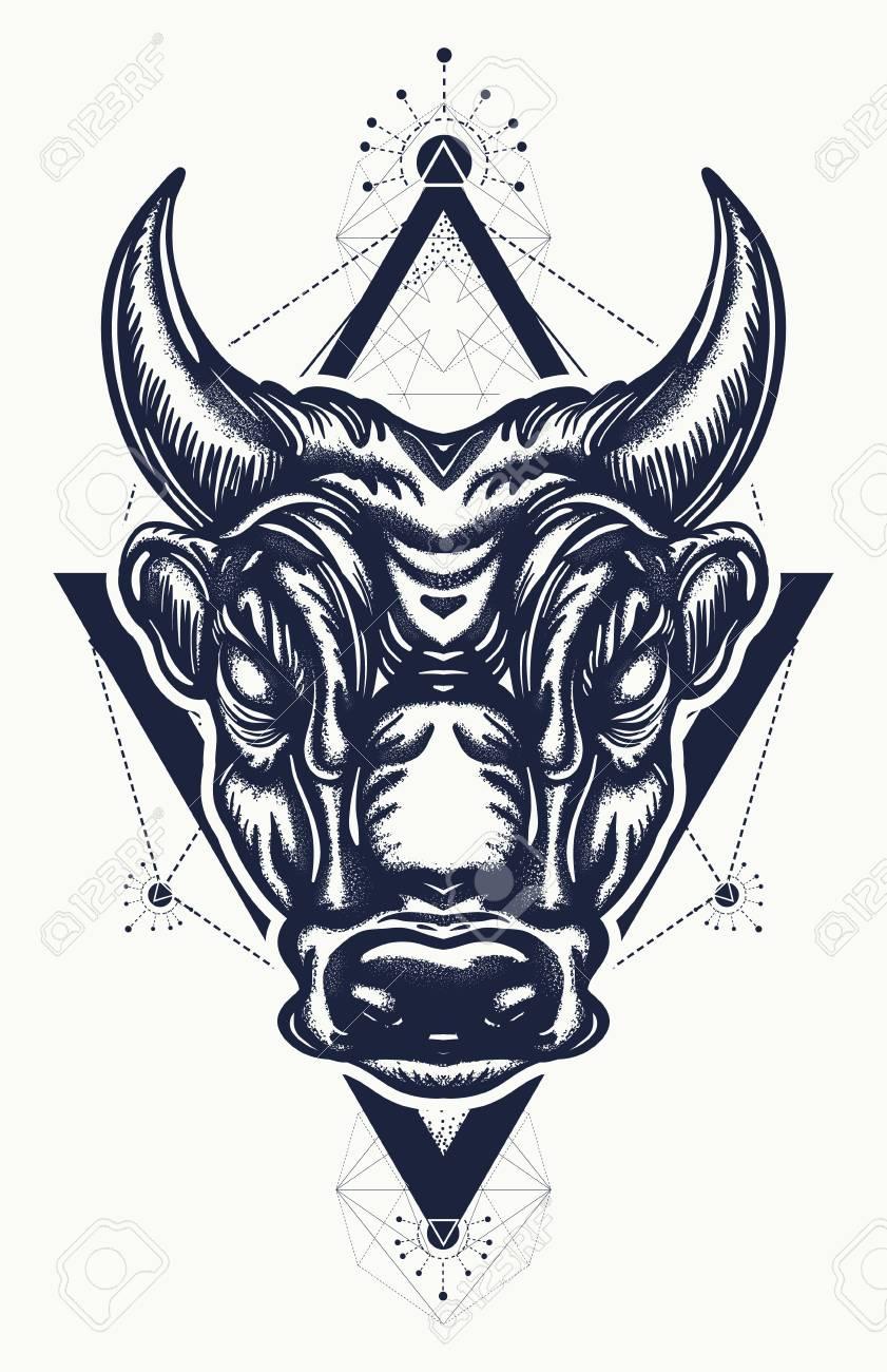 Bull tattoo and t shirt design ancient rome and ancient greece ancient rome and ancient greece concept war t biocorpaavc