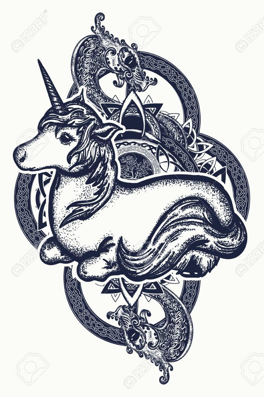 92828145-unicorn-and-dragon-tattoo-art-symbol-of-dreams-tales-fantasies-unicorn-and-tribal-dragon-in-celtic-s.jpg