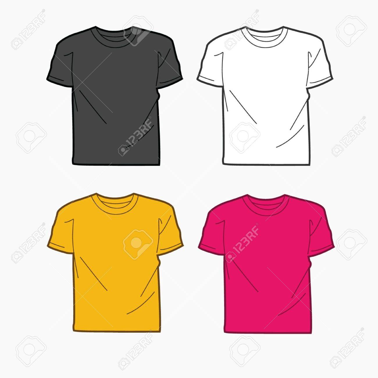 Men T-shirt Template Royalty Free Cliparts, Vectors, And Stock ...