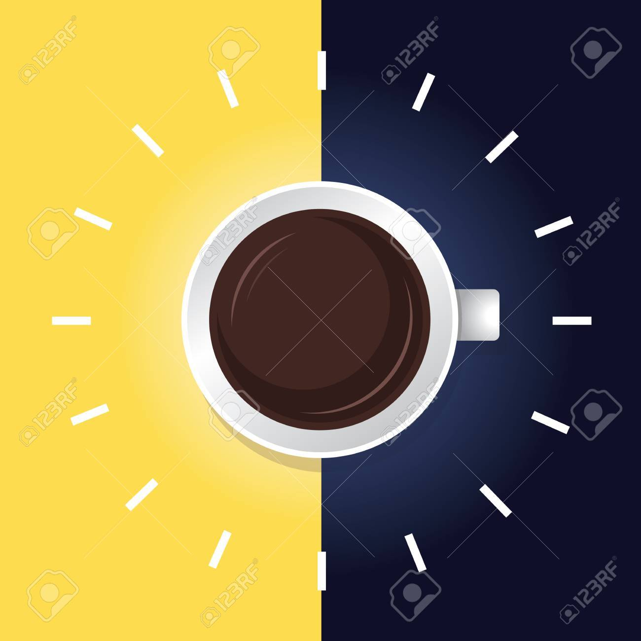 Coffee time day night Stock Vector - 28460696