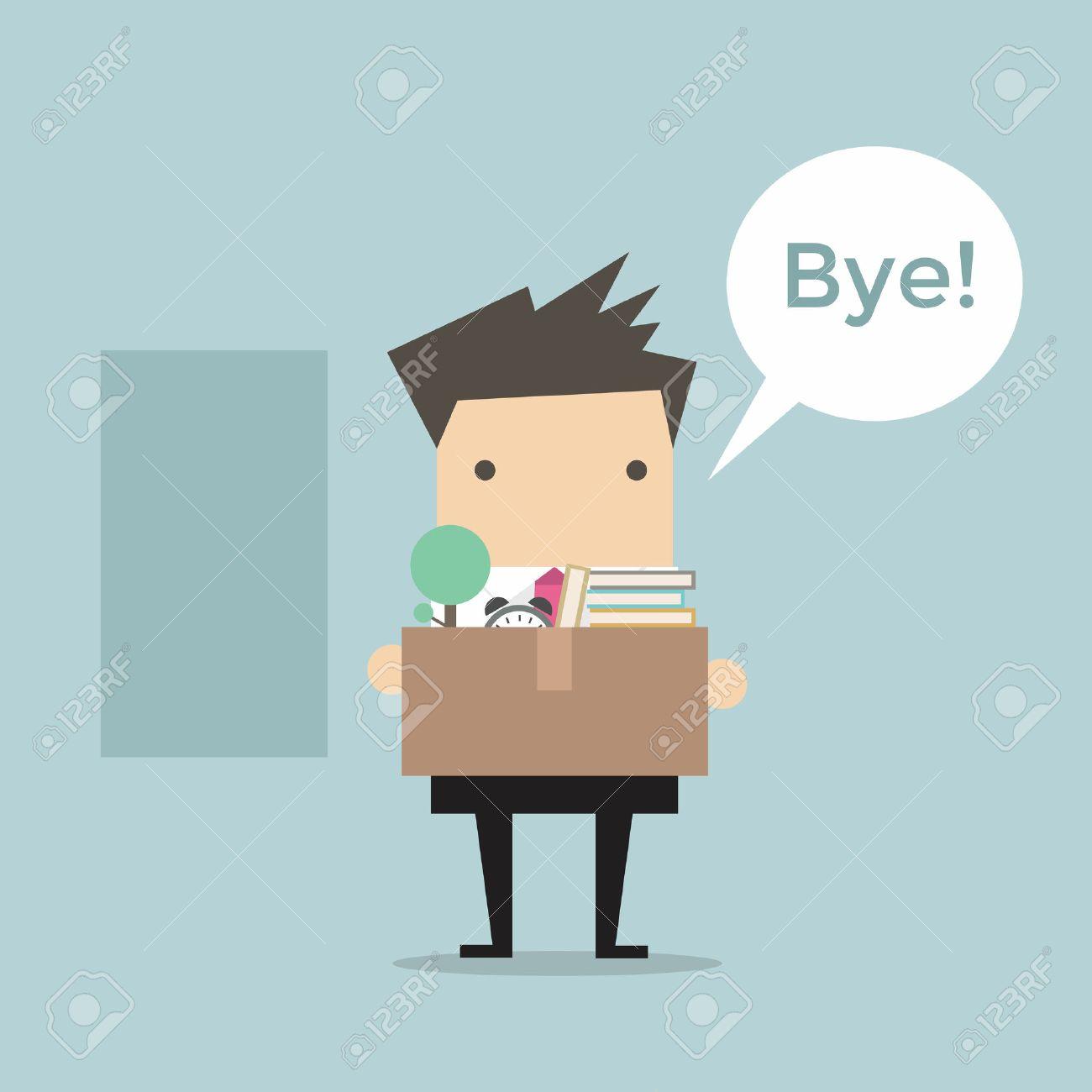Businessman Leaving Job vector - 33774409