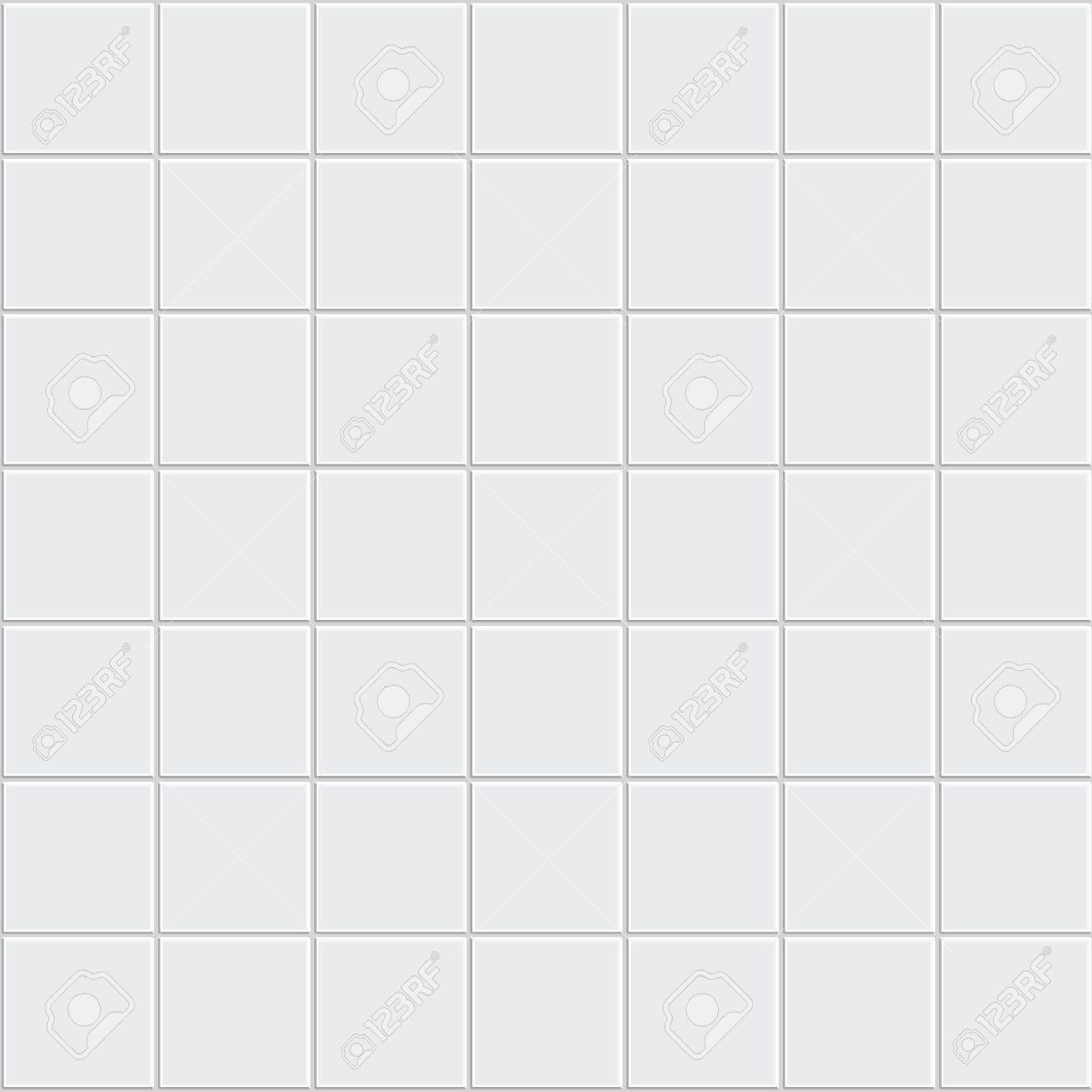 White tiles texture vector Stock Vector - 35621812