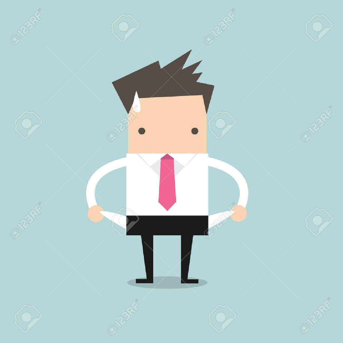 Businessman has no money - 39312129