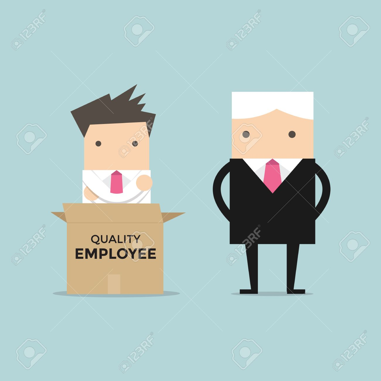 good employee images stock pictures royalty good employee good employee manager unpack a box of quality employee