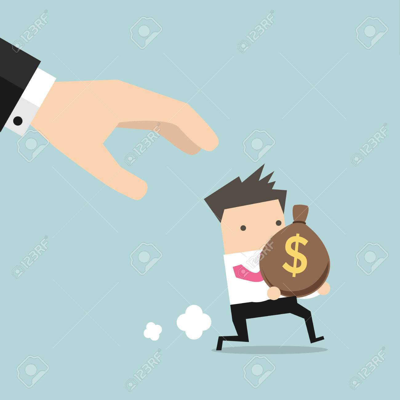 Clipart Picture of a Rolled Money Mascot Cartoon Character Running by  Toons4Biz #9961