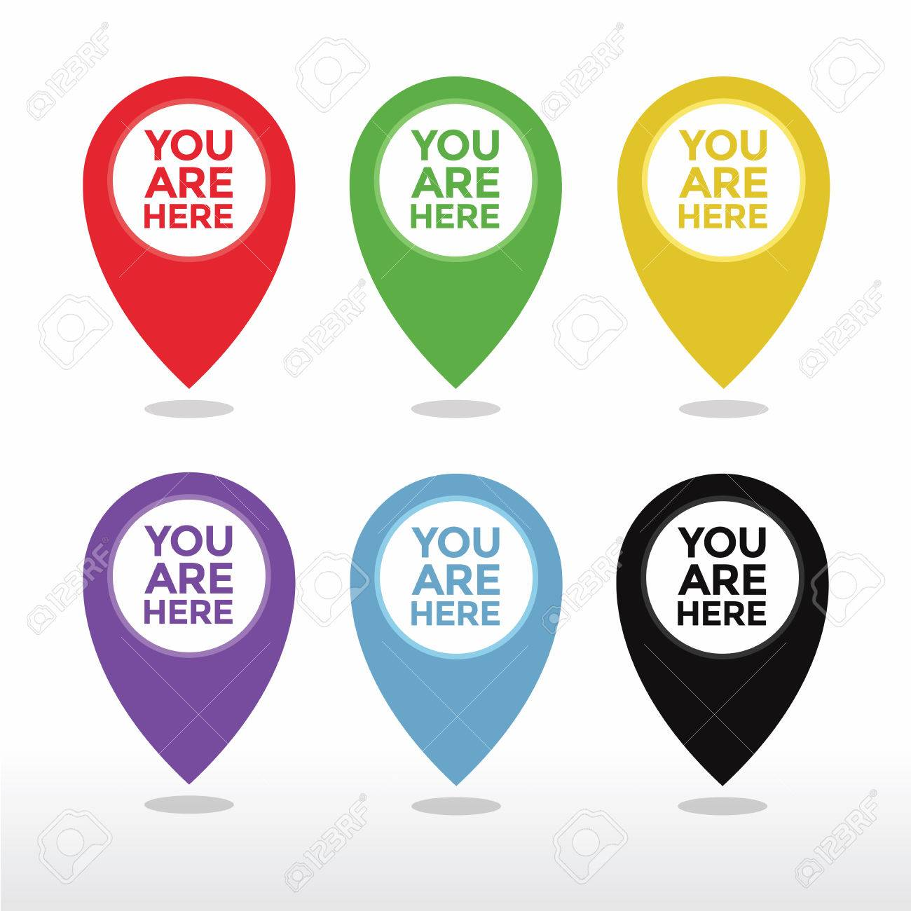 You are here map pointer icon vector - 53893024