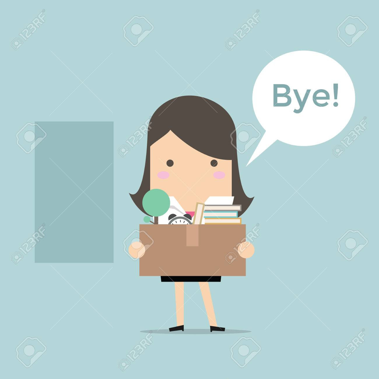 businessw leaving job vector royalty cliparts vectors businessw leaving job vector stock vector 53893209
