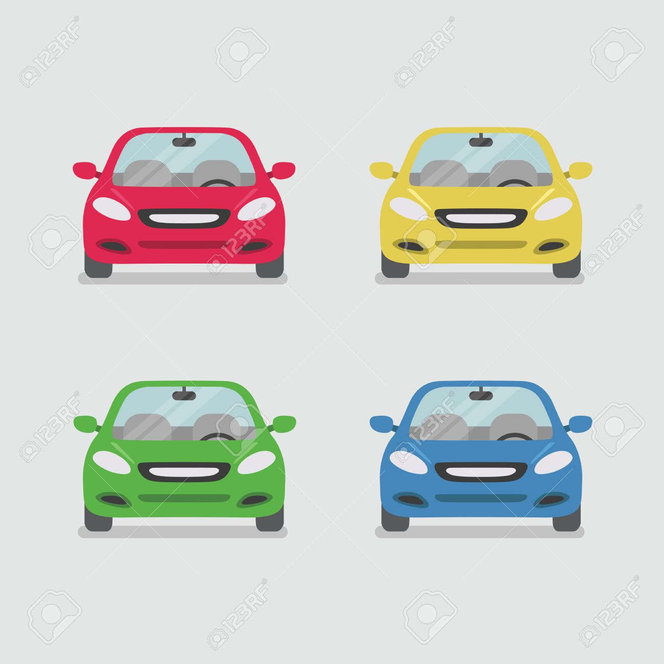 Car front view vector - 57976153