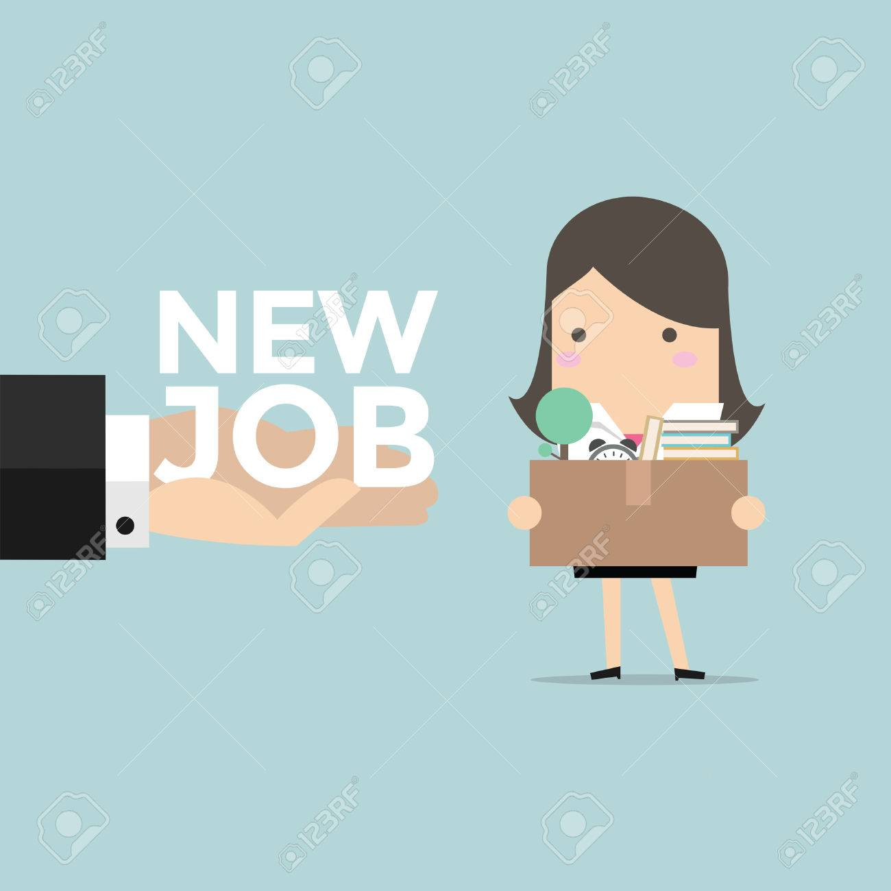 businessw holding a box hand offering a new job vector businessw holding a box hand offering a new job vector stock vector 58633398