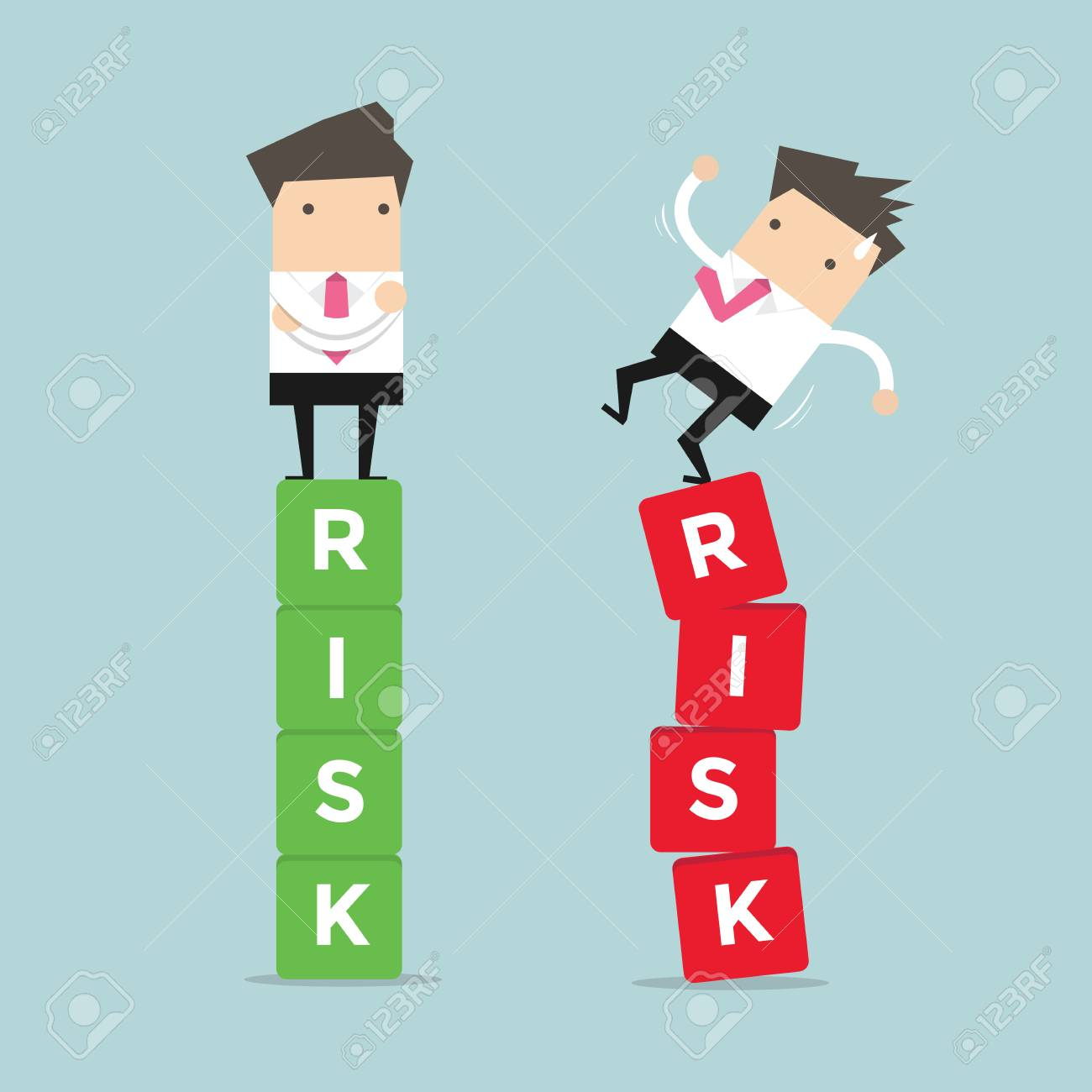 Business risk management of difference businessman between a success and failure. vector - 65000058