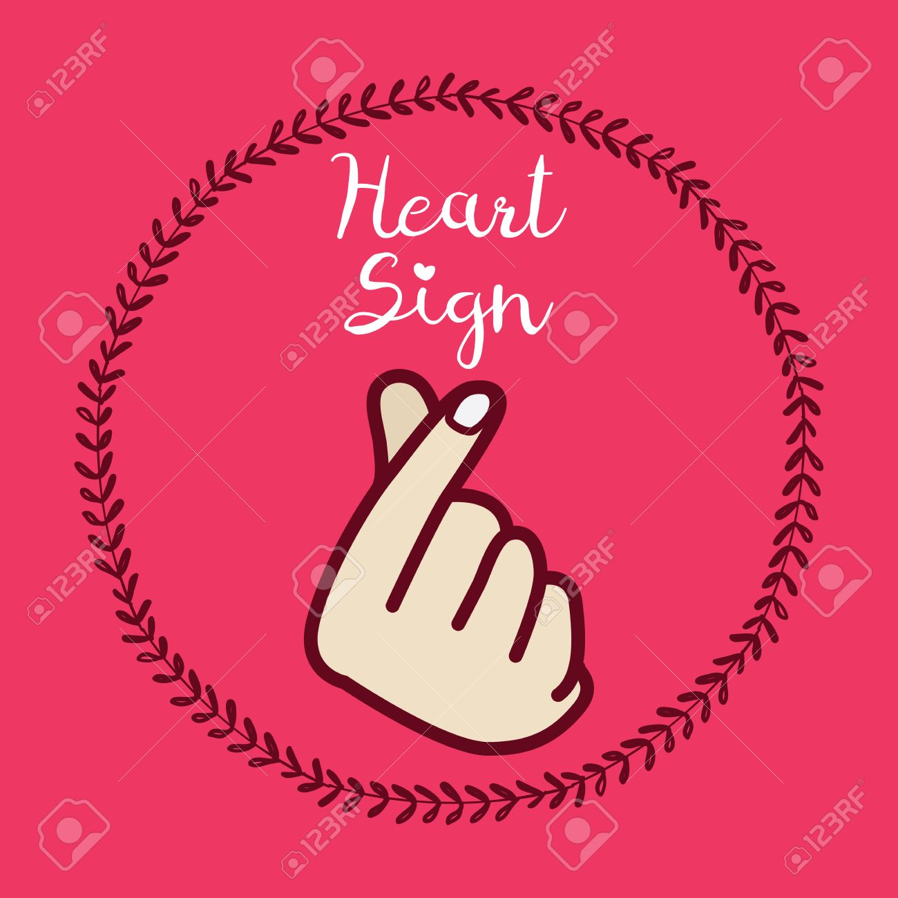 Korean symbol hand heart a message of love hand gesture sign korean symbol hand heart a message of love hand gesture sign icon stylized for biocorpaavc