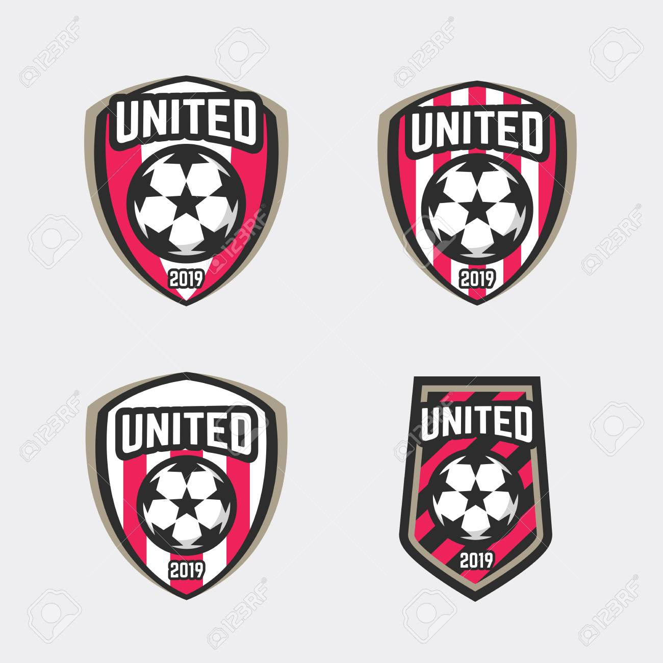 united soccer football badge logo. vector royalty free cliparts, vectors,  and stock illustration. image 89175372.  123rf