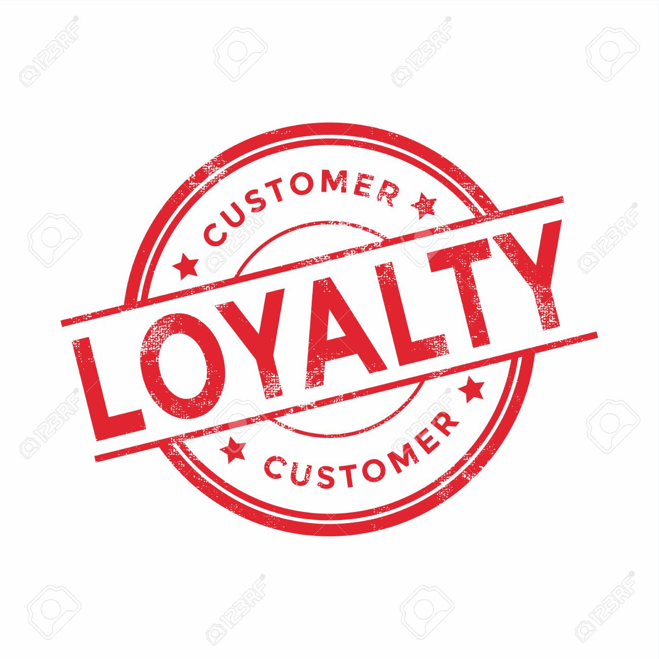 Customer Loyalty Red Rubber Stamp On White Background Vector Stock