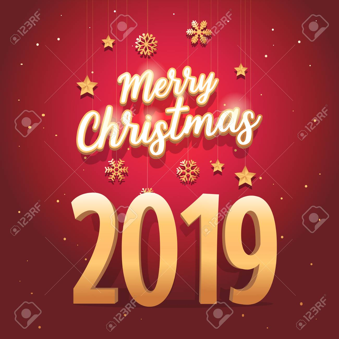 Christmas Day 2019.Merry Christmas 2019 Text With Elegant And Luxurious Style And