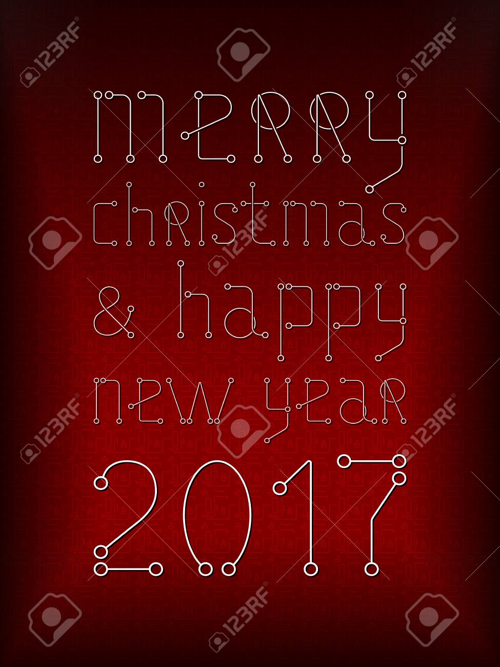 Merry christmas holiday greeting card geometry lines art techno merry christmas holiday greeting card geometry lines art techno style banner red color m4hsunfo