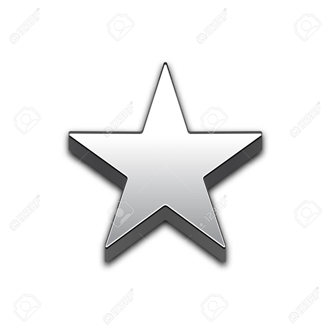 Star Isolated 3d Web Vector Icon Star Trendy 3d Style Vector