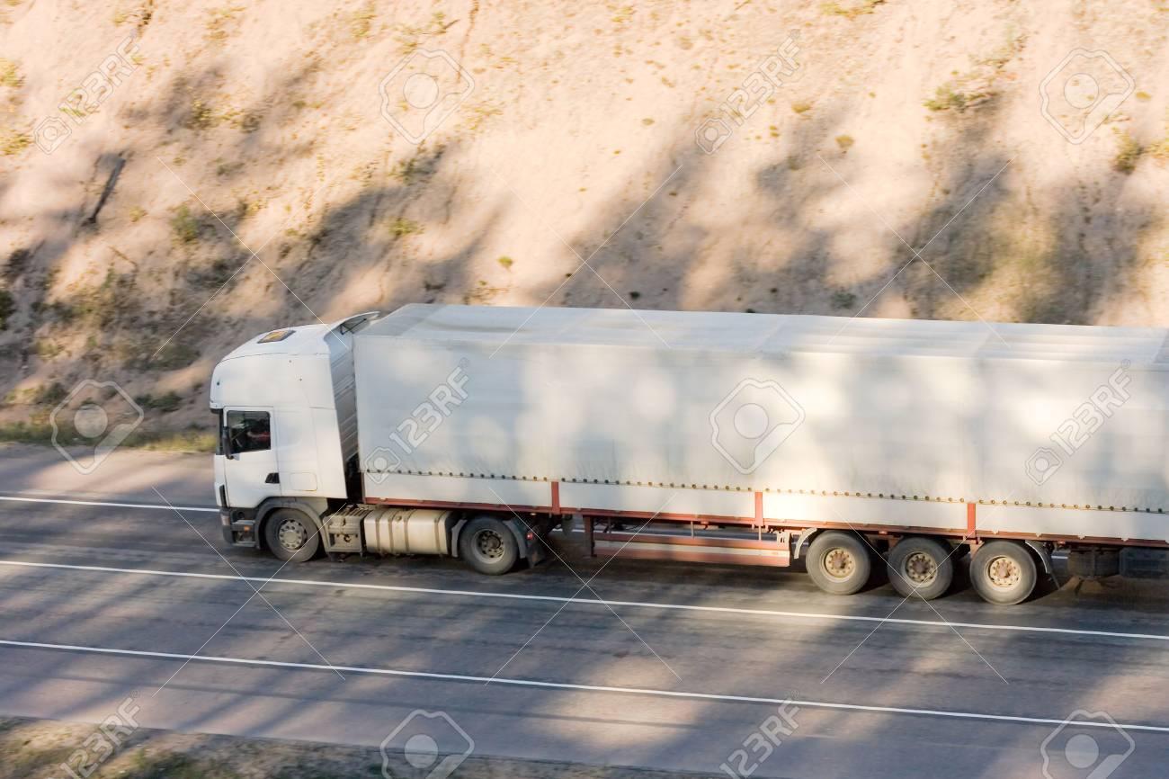 blank white trucktor trailer truck of