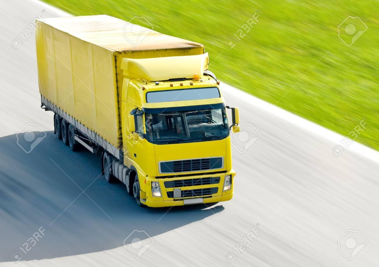 yellow truck Stock Photo - 3268516
