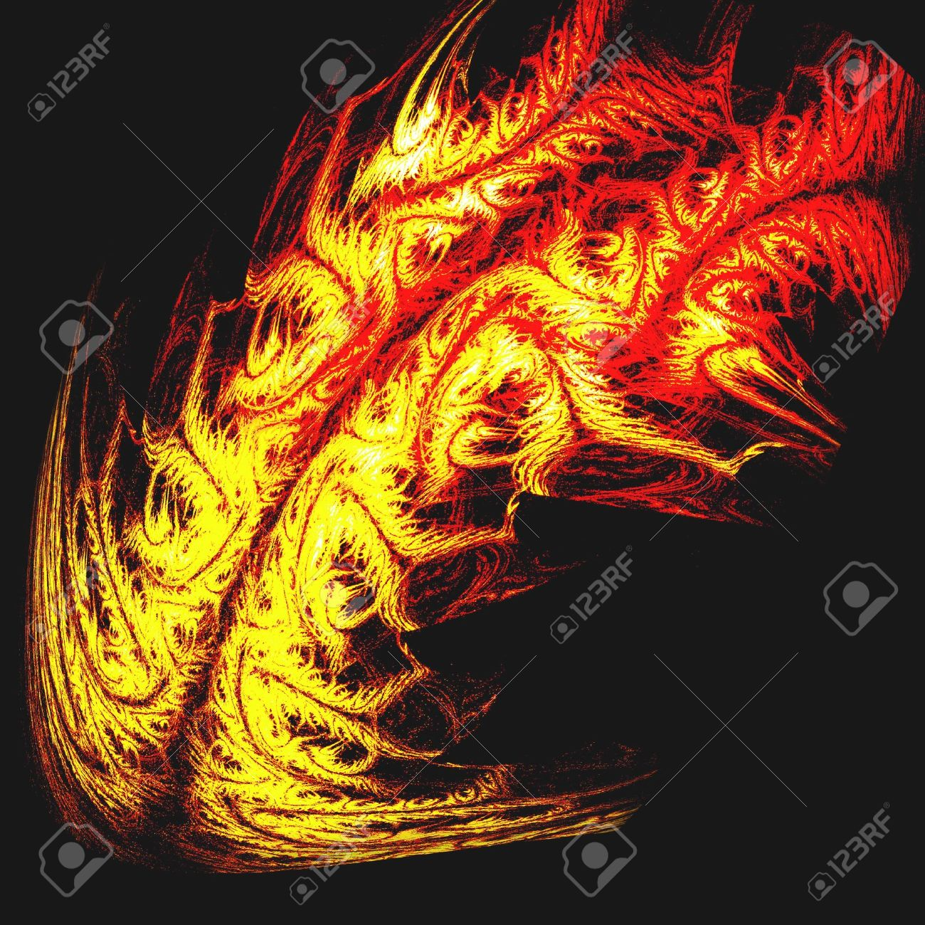 0544d603ea107 Stock Photo - tribal tattoo of dragon fire or tiger skin - of