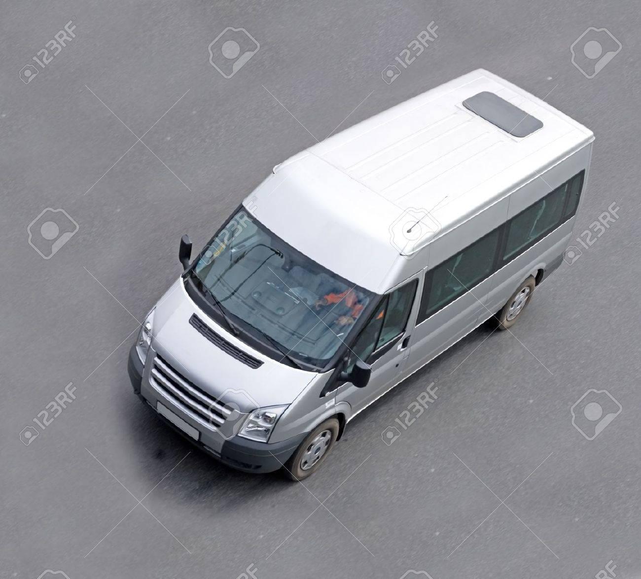 white gray blank Shuttle Bus - 10069517